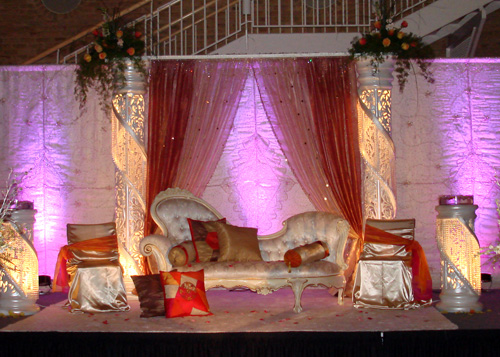 Pakistani wedding decor and muslim wedding decorations by for Arab wedding stage decoration